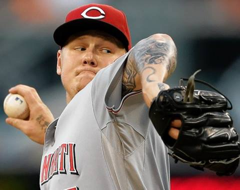 Latos, the Opening Day starter, will pitch in his first minor league game since 2009.