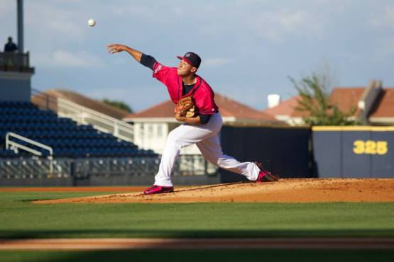 Since May 13, Robert Stephenson is 3-0 with a 1.47 ERA. (Barrett McClean/Pensacola Blue Wahoos)